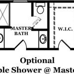 Braxton Optional Shower @ Master Bath