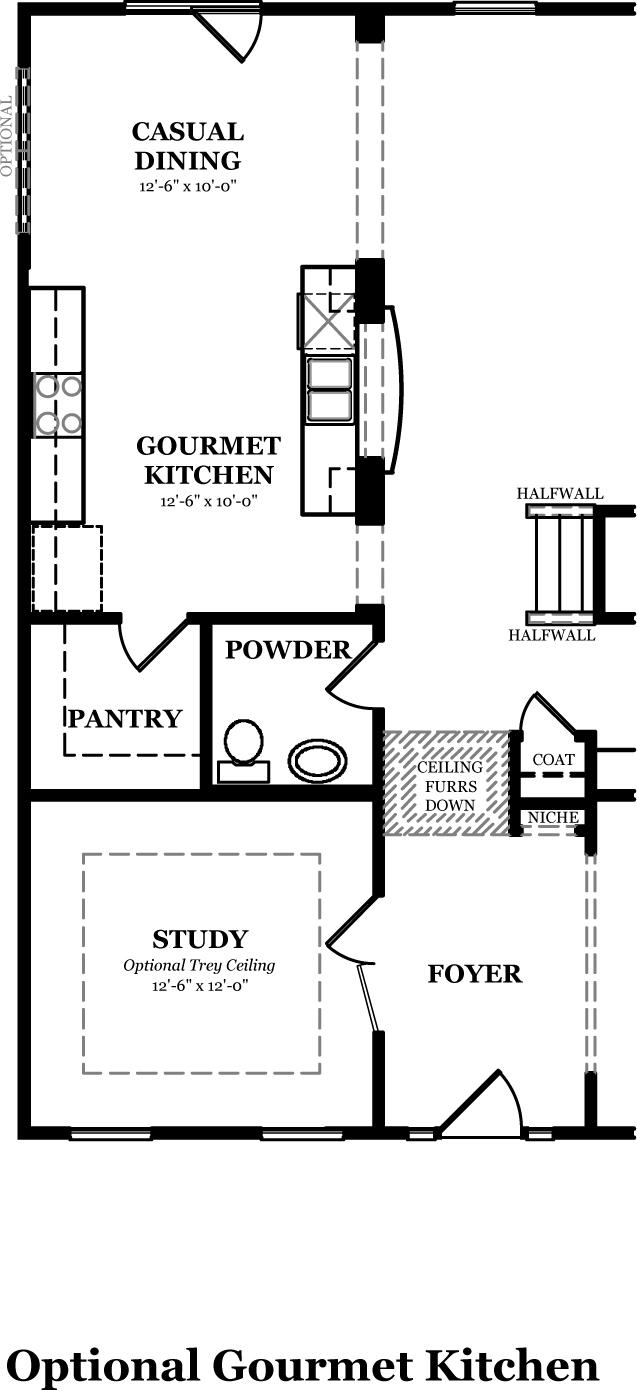 Calhoun the jones company for Gourmet kitchen floor plans