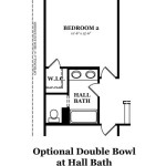 Hickory Optional Double Bowl at Hall Bath