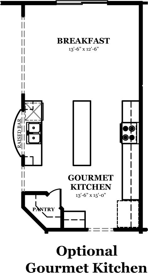 Jefferson the jones company for Gourmet kitchen floor plans