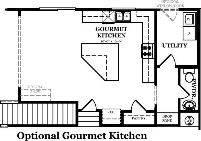 Rutledge the jones company for Gourmet kitchen floor plans