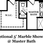 Rutledge Optional Shower at Master Bath