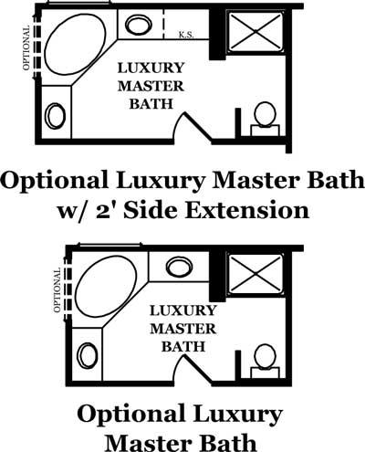 Hickory ii the jones company for Luxury master bathroom plans
