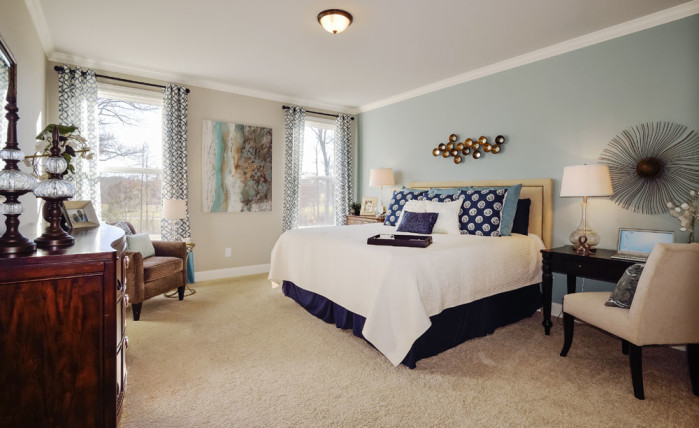 Master Suite in the Hickory II model at Heartland Reserve
