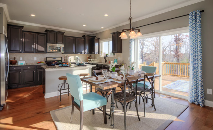 Kitchen/Breakfast Room in the Hickory II at Heartland Reserve