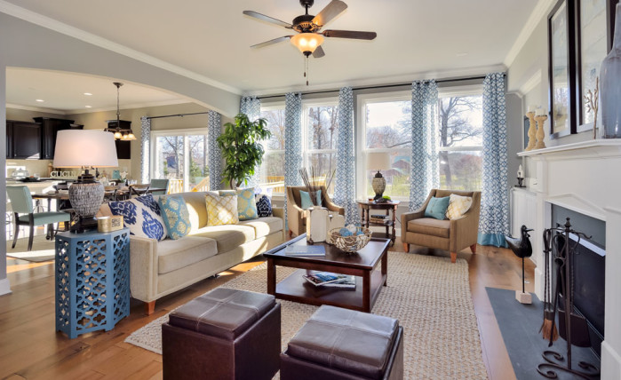 Family Room - Hickory II model home at Heartland Reserve