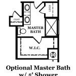 Audubon Optional Shower at Master Bath