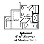 Rockwell Optional Shower at Master Bath