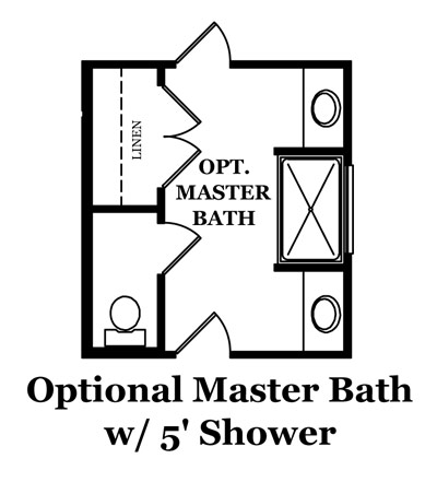 Stamford Optional Master Bath