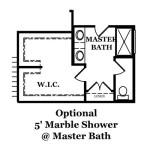Reston Optional Shower at Master Bath
