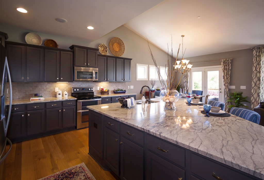 Personalize your kitchen by choosing from a wide range of cabinets, countertops, and more!