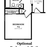 Danbury Optional Bedroom & Bath In Lieu of Study