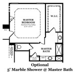 Danbury Optional Shower @ Master Bath