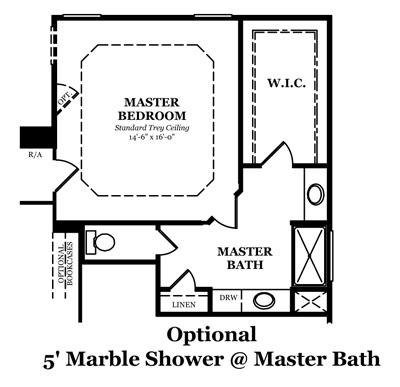 Danbury Optional Shower @ Master Bath