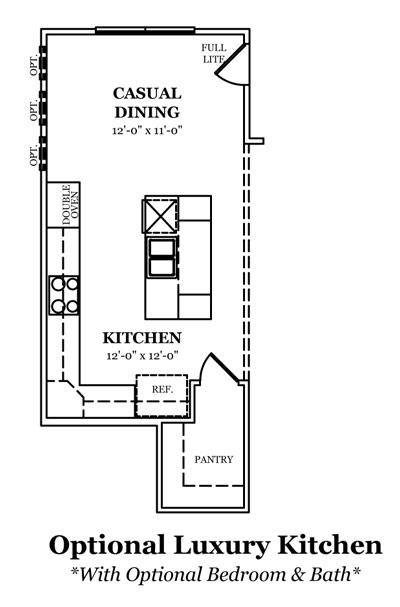 Madison Optional Storage, Media or Bonus Room