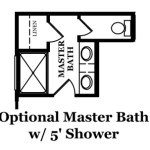 Winslow Optional Master Bath with Shower
