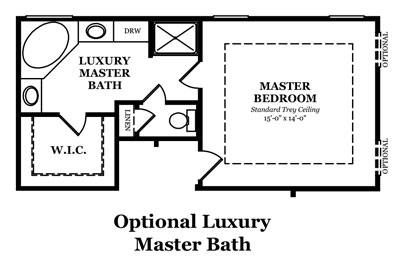 Somerville II Optional Master Bath