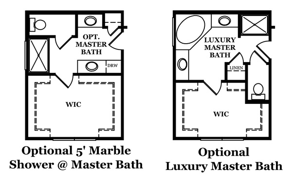 Rutledge Master Bath Options