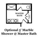 Franklin Optional Shower @ Master Bath