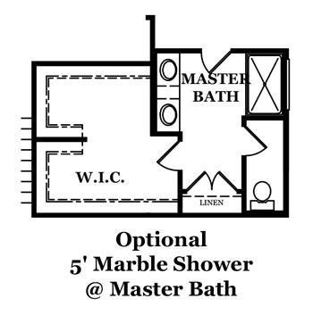 Reston Optional Shower @ Master Bath