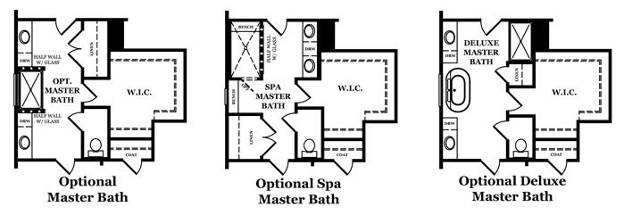 Beckett Master Bath Options