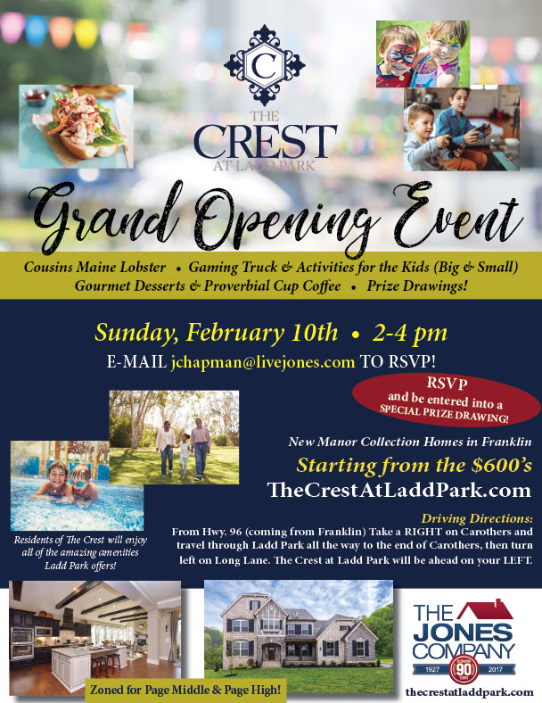 The Crest at Ladd Park GRAND OPENING