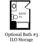Adams Optional Third Bath In Lieu of Storage