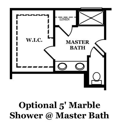 Calhoun Optional Shower @ Master Bath