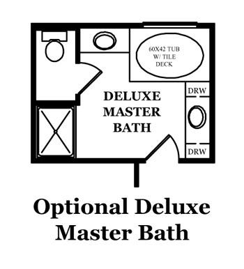 Franklin Optional Shower at Master Bath