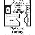Franklin Optional Luxury Master Bath w/Tile Tub Deck