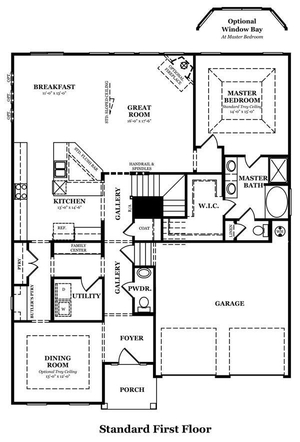 Rockwell II Optional Jack & Jill Shown w/Optional Second Floor