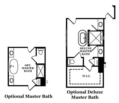 Claybrooke Master Bath Options