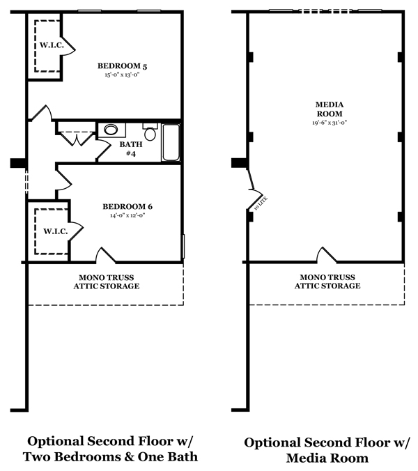 Carlisle-Second Floor Options