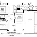 Danbury IV First Floor with Optional  Second Floor