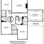 Newcastle II Optional Second Floor with 2 Story Great Room