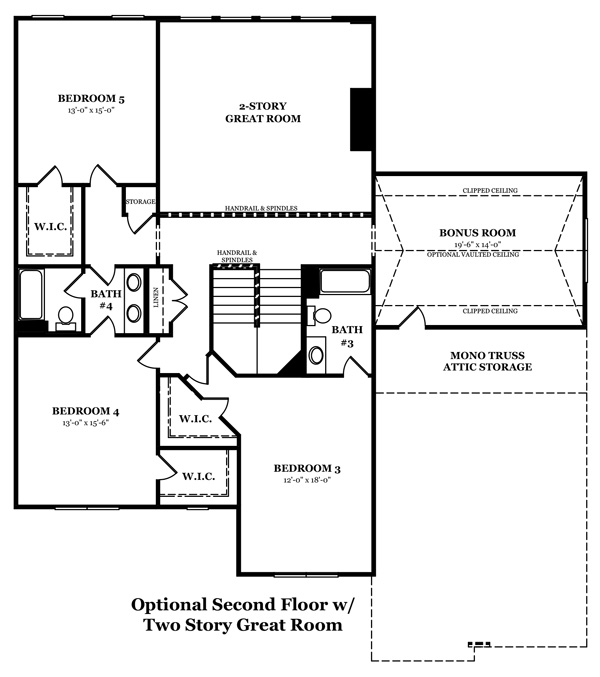 Newcastle II First Floor with 2 Story Great Room
