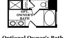 Cabot Optional Owner's Bath