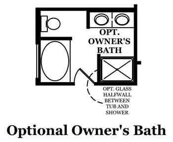 Drake Optional Owner's Bath