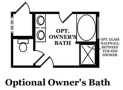 Fleming-Optional Owner's Bath