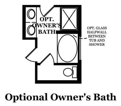 Haley-Optional Owner's Bath