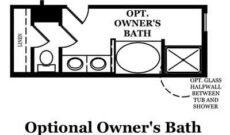 Magellan Optional Owner's Bath
