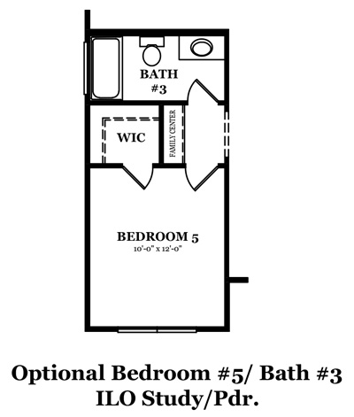 Mitchell Optional 5th Bedroom & 3rd Bath In Lieu of Study