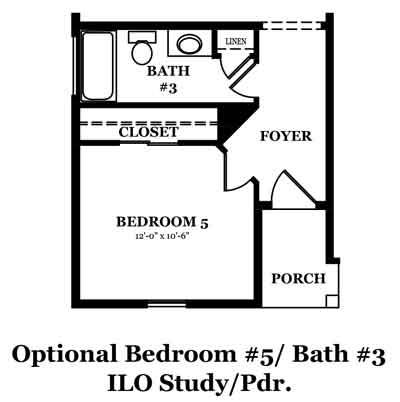 Raleigh Optional Bedroom & Bath In Lieu Of Study