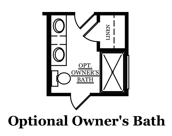 Albright Optional Owners Bath