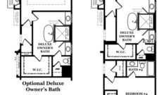 Augusta II Deluxe Owner's Bath Options
