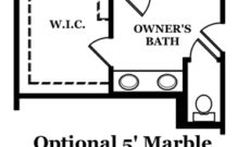 Calhoun Optional Shower at Owner's Bath