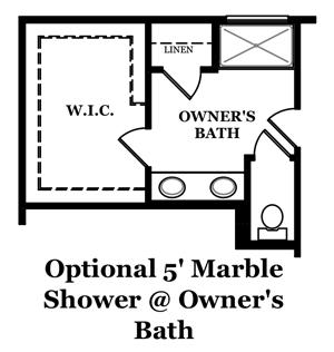 Calhoun Optional Luxury Owner's Bath