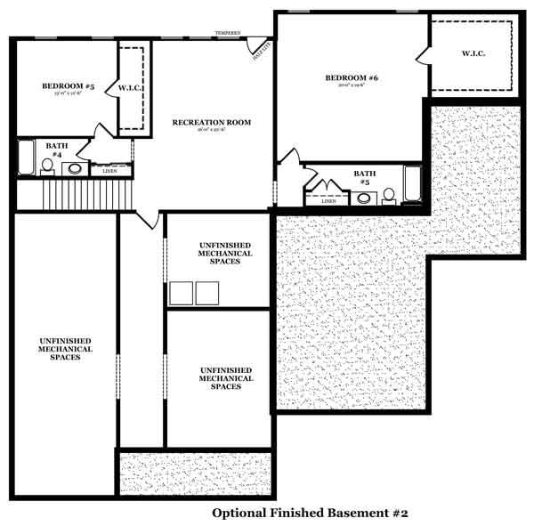 Davenport Optional Finished Basement 2