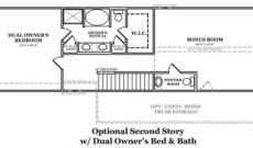 Manchester III Optional Second Story with Dual Owner's Bed and Bath