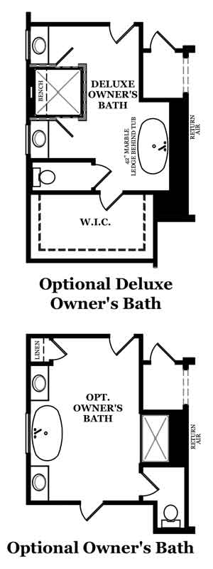Westminster Owner's Bath Options